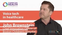 John Brownstein, chief innovation officer at Boston Children's Hospital