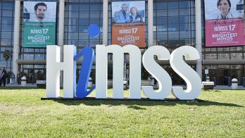 HIMSS sign.