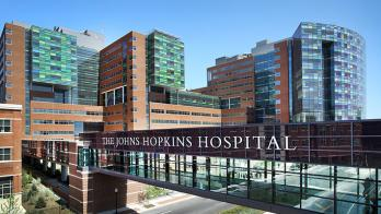 exterior of Johns Hopkins hospital building