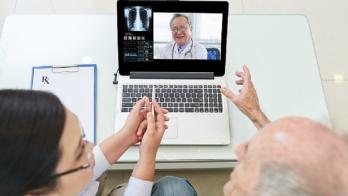A telehealth consultation