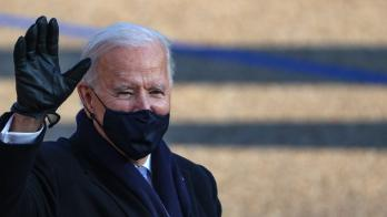 President Joe Biden in a mask