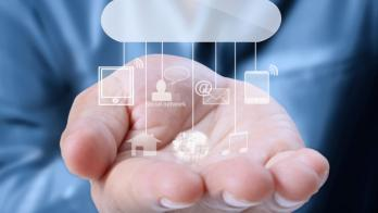 mobile cloud with icons