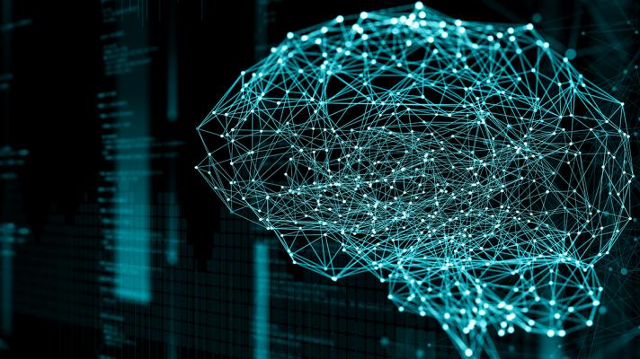 A digital representation of a brain