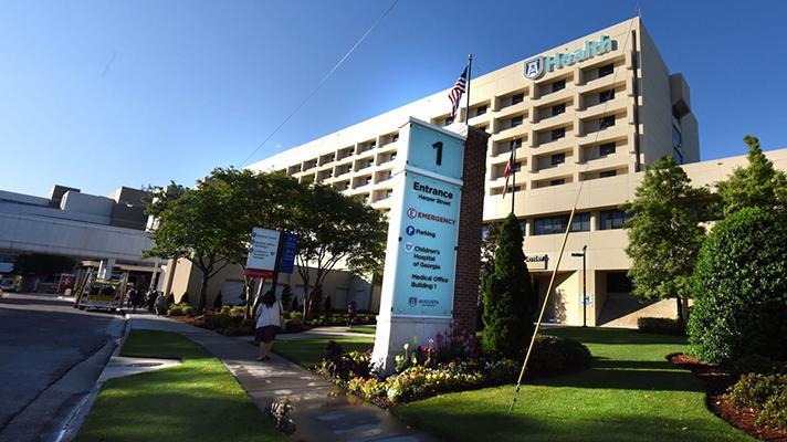 Exterior view of Augusta University Hospital in Augusta, Georgia
