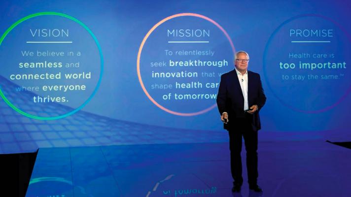 Cerner CEO Brent Shafer speaks at the virtual Cerner Health Conference 2020