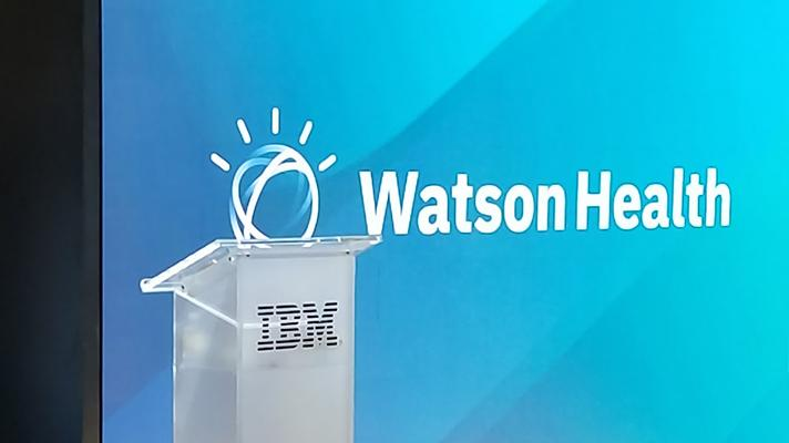 IBM Watson Health booth at HIMSS