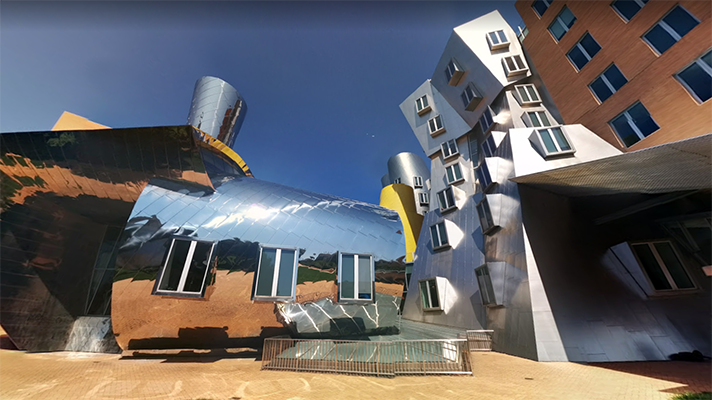 exterior view of Stata Center at MIT