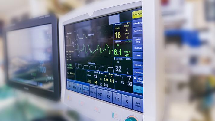 heart monitor in hospital
