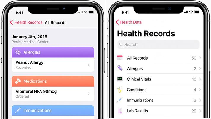 Apple Health Records iPhone