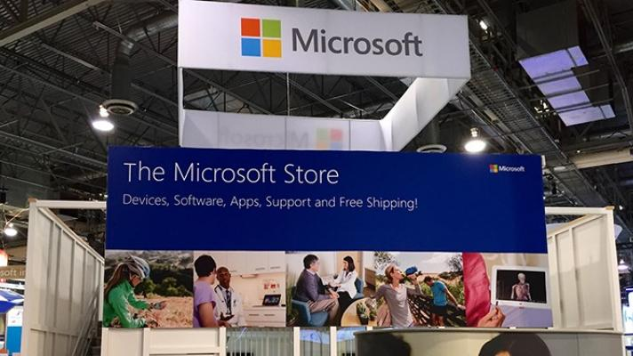 Microsoft booth at HIMSS