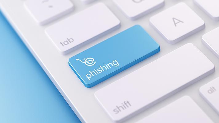 phishing key on computer