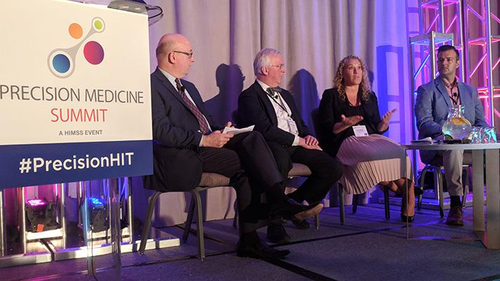 Precision medicine panel of experts speaking at HIMSS Precision Medicine Summit in Washington, D.C.