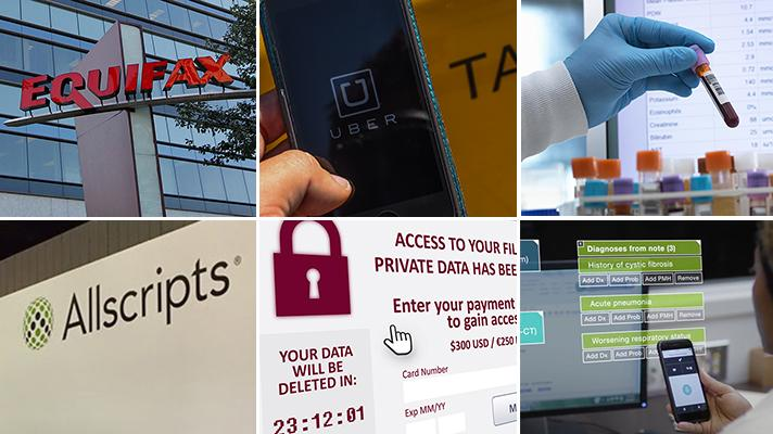 collage of photos about security breaches