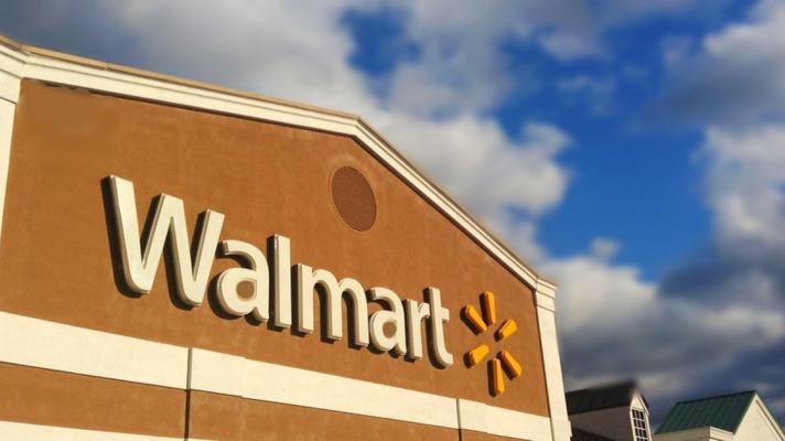 The Walmart sign