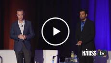 Chris Bowen and Rohit Talreja speaking at HIMSS Privacy & Security event in San Francisco