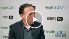 Gyre Renwick talking to himss tv at health 2.0 conference