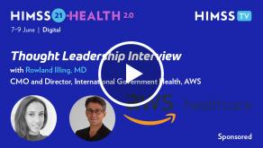 Dr. Rowland Illing, CMO and director of International Government Health for Amazon Web Services