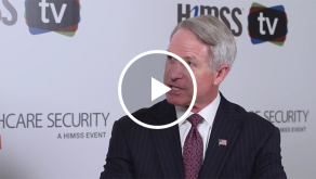Kirk Lippold talking to HIMSS TV