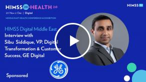 Sibu Siddique, VP of Digital Transformation and Customer Success at GE Digital
