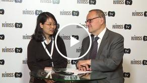 Prof Xiangliang ZHANG speaking with HIMSS TV