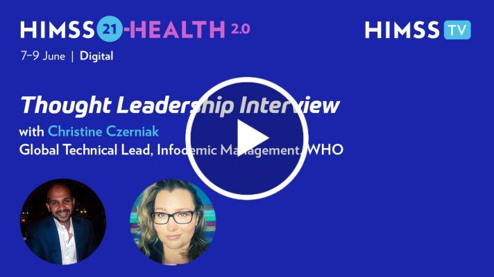 Christine Czerniak, technical officer of the WHO Health Emergencies Programme