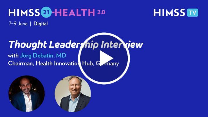 Jörg Debatin, chairman of the Health Innovation Hub