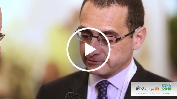 Miguel González Sancho talking at himss europe