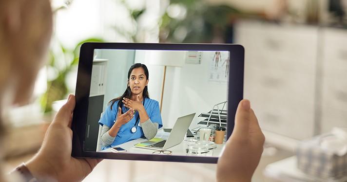 Telemedicine via tablet