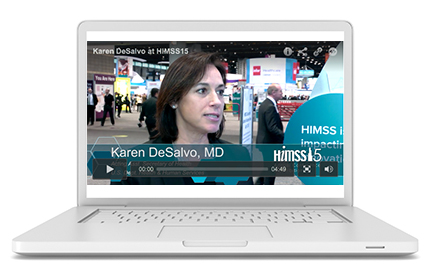 Healthcare IT News videos on laptop screen