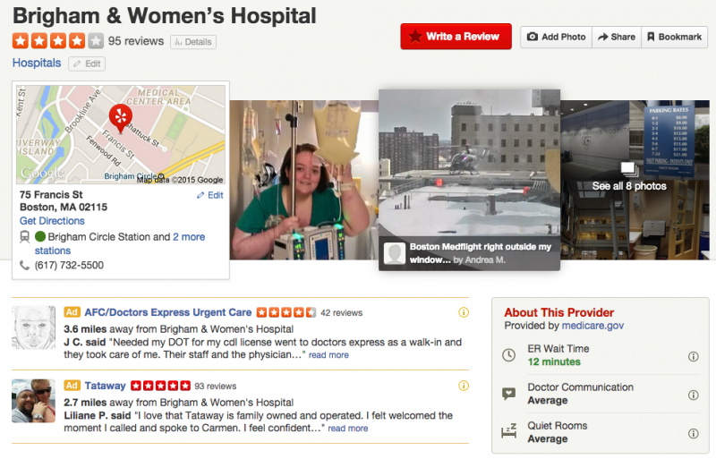 Yelp gets into hospital review business | Healthcare IT News
