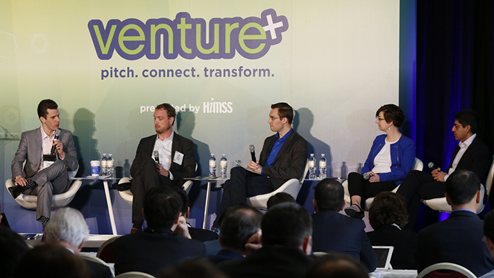 Panelists at Monday's Venture+ Forum at HIMSS16.