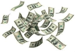 Money falling/floating