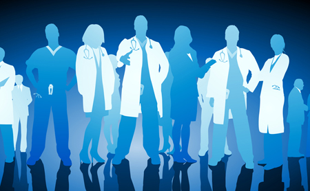 Illustration of health workers