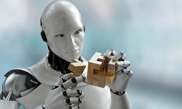 Robot assembling puzzle